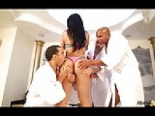 Sexy Bruna Butterfly fucked in all sorts of ways at gangbang