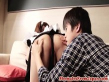 Asian ladyboy amateur pounded from behind