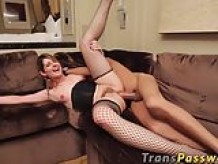 Kinky transgender rough ass pounding penetration